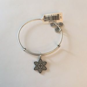 Alex and Ani Star Flower Bangle Silver Holiday